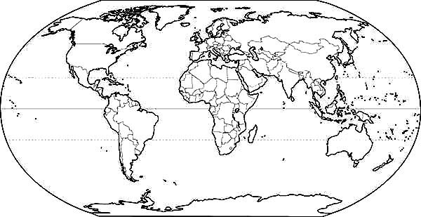 World Map For School Coloring Page Netart World Map Coloring Page