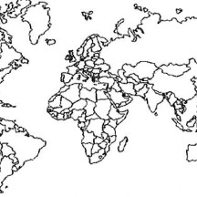 World Map with Boundaries Coloring Page