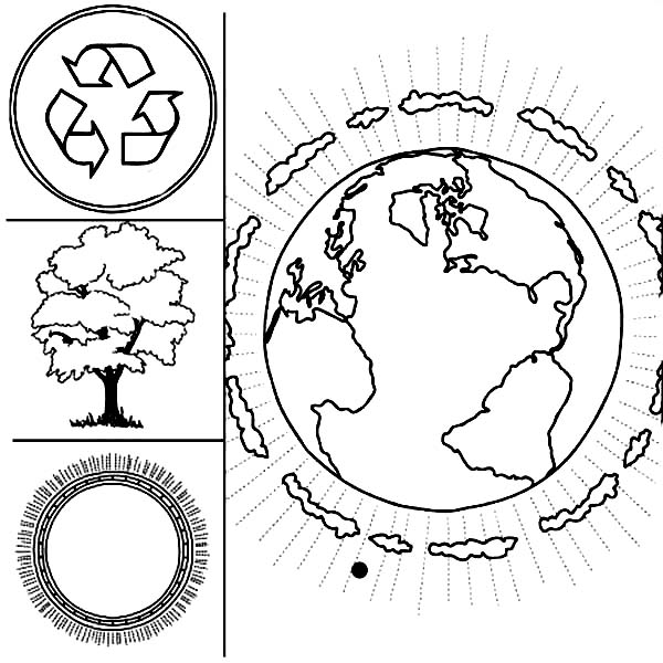 3 Things to Keep Up on Earth Day Coloring Page