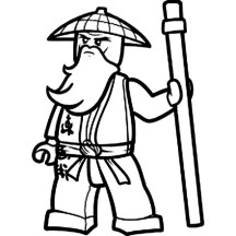 An Ancient China Farmer in Lego Coloring Page