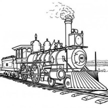 Awesome Picture of Steam Train Coloring Page