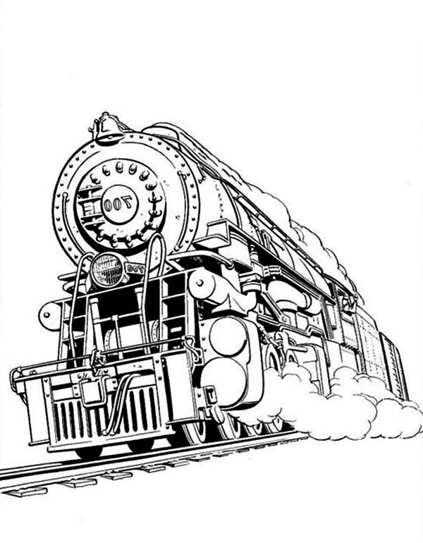 Awesome steam train coloring page netart for Express template engines