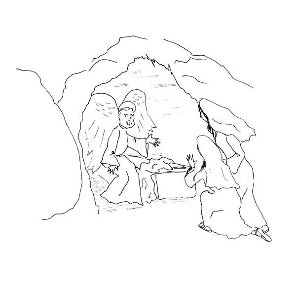 Cave Where Jesus Buried in Jesus Resurrection Coloring Page  NetArt