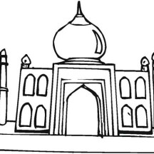 Depiction of Taj Mahal Coloring Page