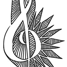 Desing of Treble Clef Coloring Page