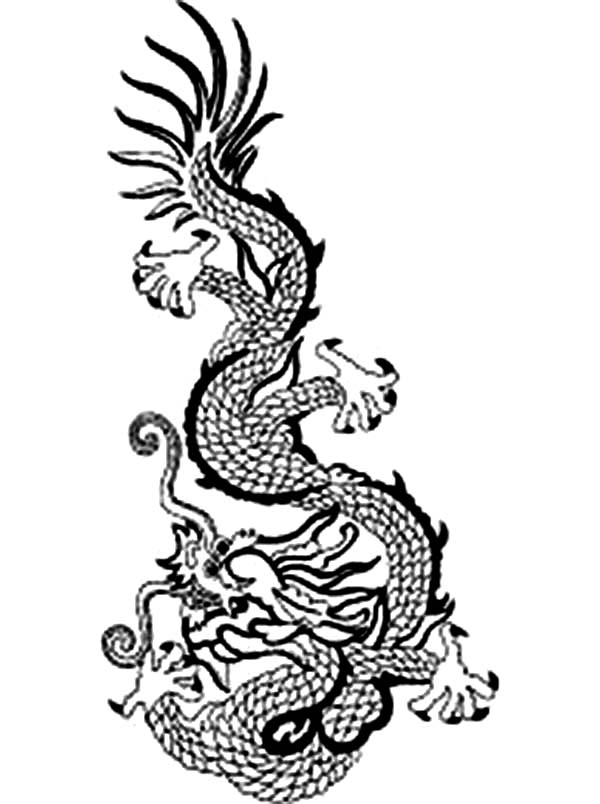 Dragon, a Popular Symbol of Ancient China Emperor Coloring Page