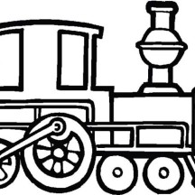 Draw a Steam Train Coloring Page