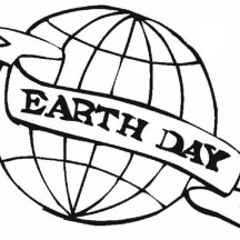Earth Day Campaign Emblem Coloring Page
