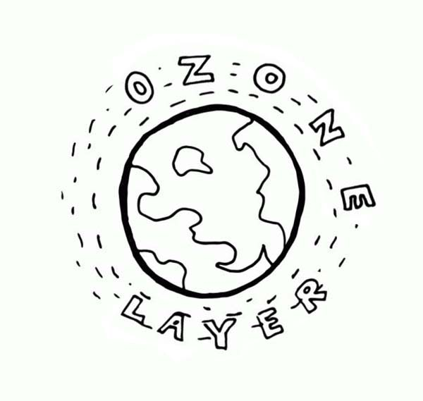 Healthier Ozone Layer on Earth Day Coloring Page