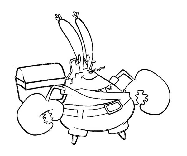How to Draw Mr Krabs Coloring Page