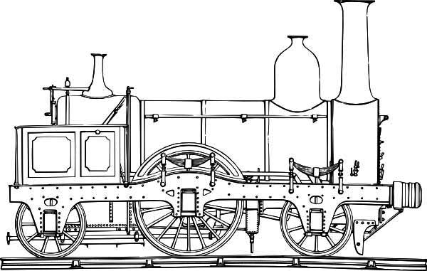 How to Draw Steam Train Coloring Page - NetArt