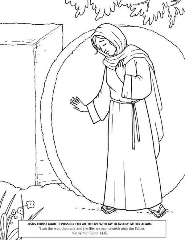 Jesus Christ Made it Possible in Jesus Resurrection Coloring Page ...