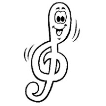 Laughing Treble Clef Coloring Page