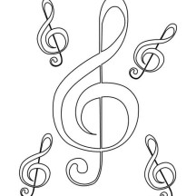 Mother of Treble Clef Coloring Page