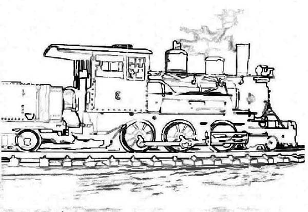 sketch of steam train coloring page