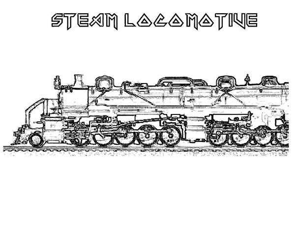 Steam train free colouring pages for Printable steam train coloring pages
