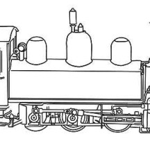 Steam Train Picture Coloring Page