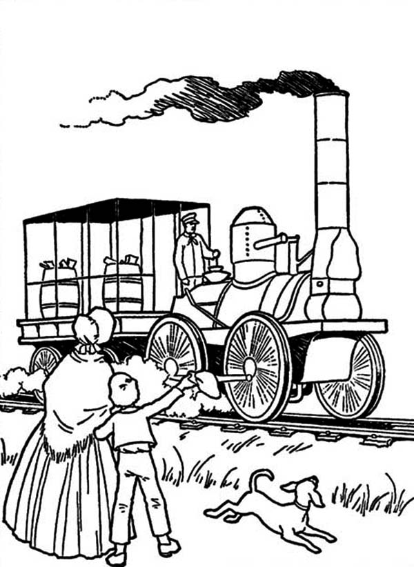 Early steam engines of pages coloring pages for Steam engine coloring pages