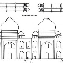 Taj Mahal Paper Craft Coloring Page