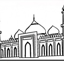 The Famous Taj Mahal Coloring Page