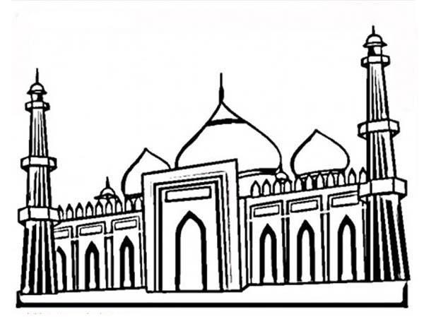 The Famous Taj Mahal Coloring Page