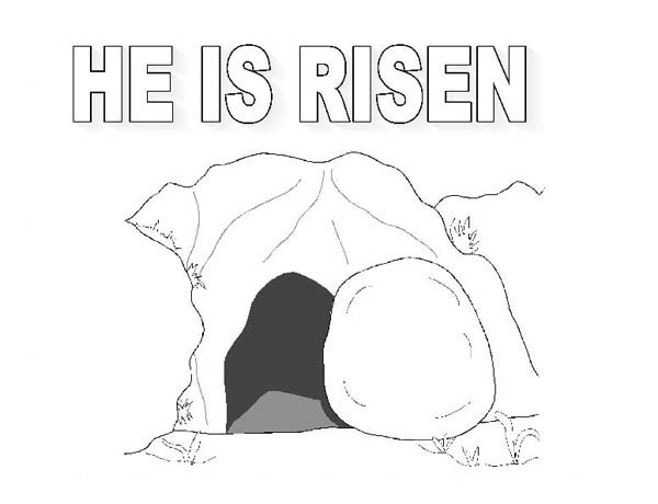 Jesus Coming Out Of The Tomb Coloring Page The tomb where jesus rise in