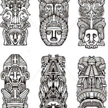 animals coloring pages totem poles netart