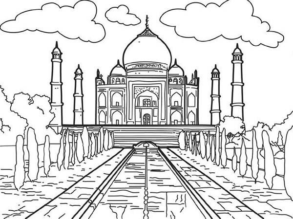 White Marble Mauseleom of Taj Mahal