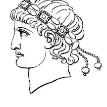 A Head Figure of Ancient Rome Caesar Coloring Page