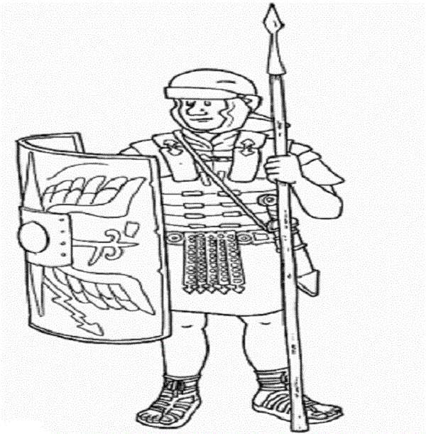 A Realistic Drawing of Ancient Rome Cohorts Coloring Page