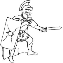 A Realistic Drawing of Ancient Rome Legionnaires Coloring Page