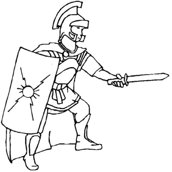 ancient roman coloring pages | A Realistic Drawing of Ancient Rome Legionnaires Coloring Page