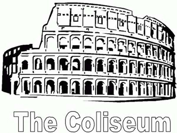 A Restored Colosseum from Ancient Rome Coloring Page
