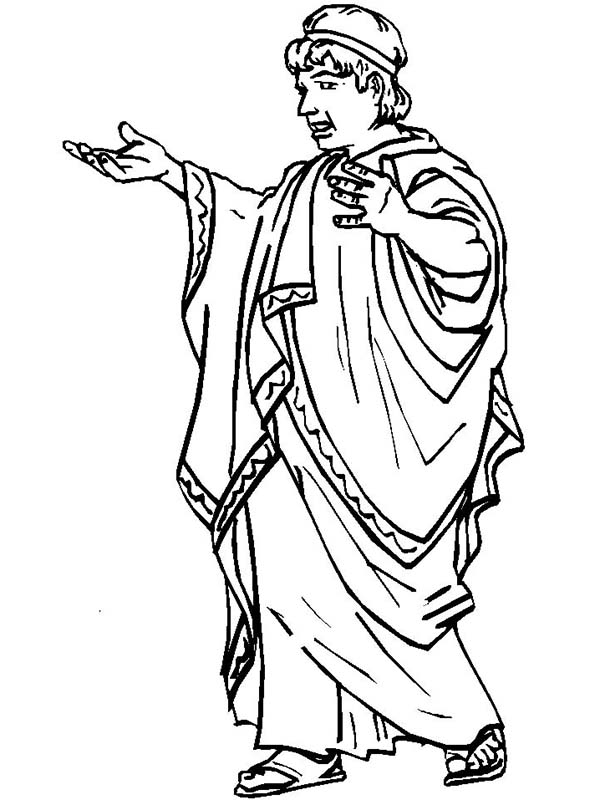 ancient roman coloring pages | A Typical Ancient Rome Senate Figure Coloring Page - NetArt