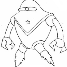 Alien in Space Suit Coloring Page