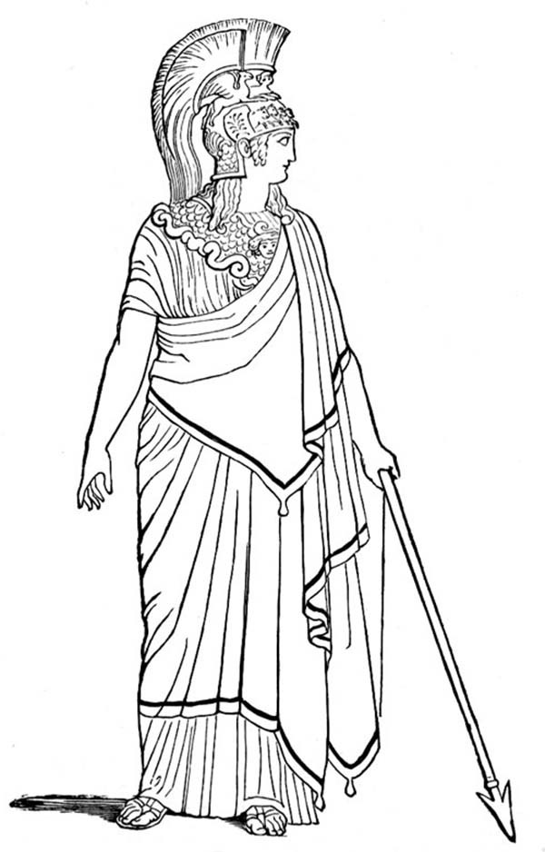 ancient roman coloring pages | Ancient Rome Goddess of War Coloring Page - NetArt