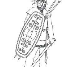 Barbaric Army from Ancient Rome Coloring Page