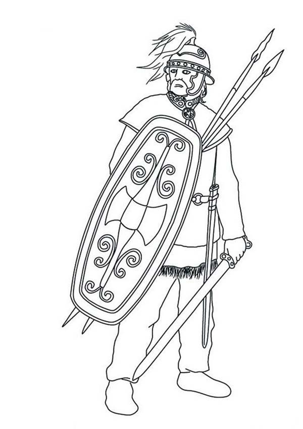 Barbaric Army from Ancient Rome Coloring Page  NetArt