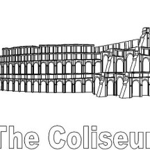 Classic Colosseum from Ancient Rome Coloring Page