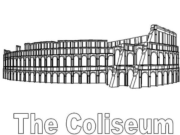 Classic Colosseum From Ancient Rome Coloring Page Netart Ancient Rome Printable Coloring