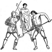 Gladiator Training from Ancient Rome Coloring Page