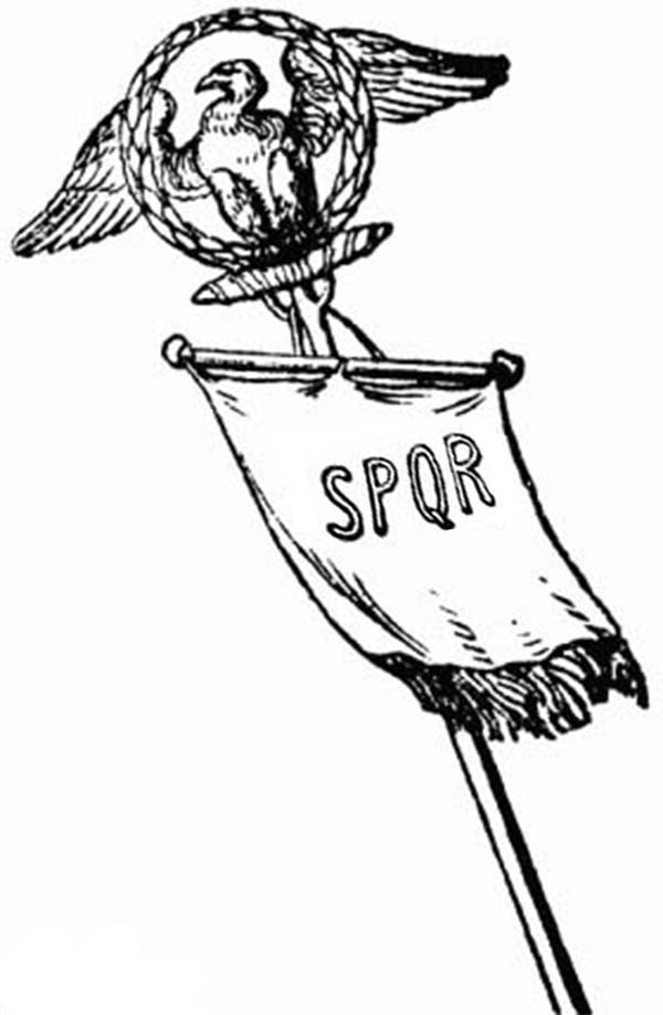SPQR Vexillum Of Ancient Rome Army Coloring Page