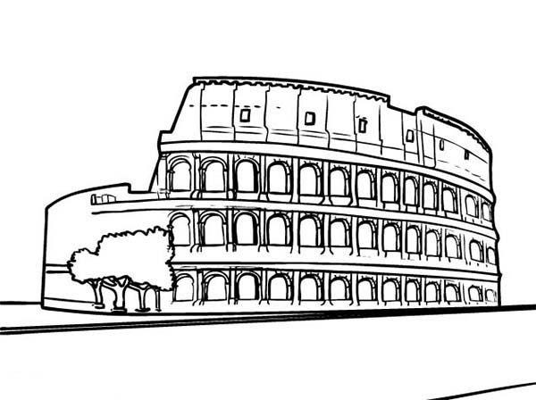 The Colosseum the Biggest Amphitheater from Anciet Rome Coloring