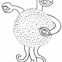Three Eyed Alien Coloring Page