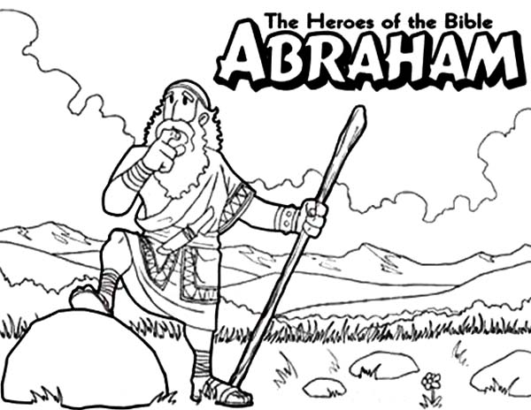 abraham the bible heroes coloring page netart