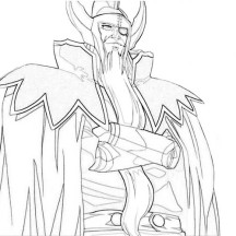 Amazing Drawing of Hades Coloring Page