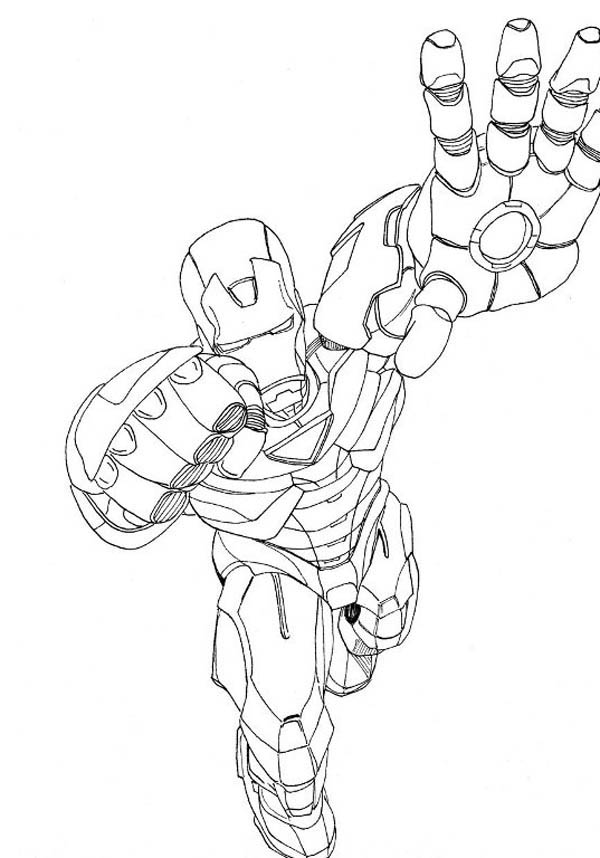 American Hero Iron Man Coloring Page