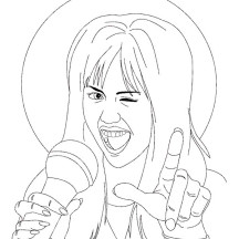 American Musical Comedy Series Hannah Montana Coloring Page