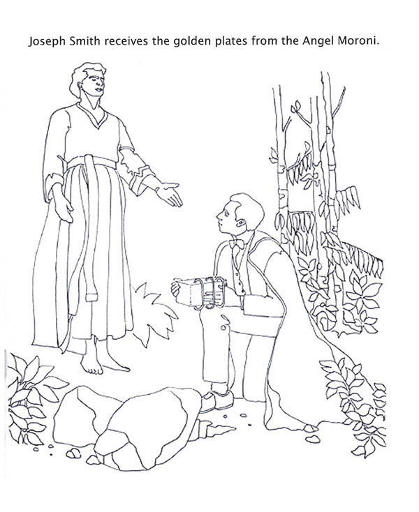 Moroni Coloring Page Coloring Pages Joseph Smith Coloring Pages