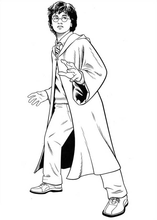 Awesome Drawing Of Harry Potter Coloring Page